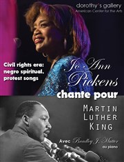 Jo Ann Pickens chante pour Martin Luther King Dorothy's Gallery - American Center for the Arts Affiche
