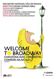 Welcome to Broadway | Orchestre national d'Île-de-France CEC de Yerres Affiche