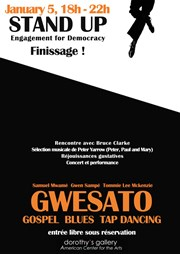Finissage de l'exposition Stand Up, engagement for democracy + Concert du trio Gwesato Dorothy's Gallery - American Center for the Arts Affiche